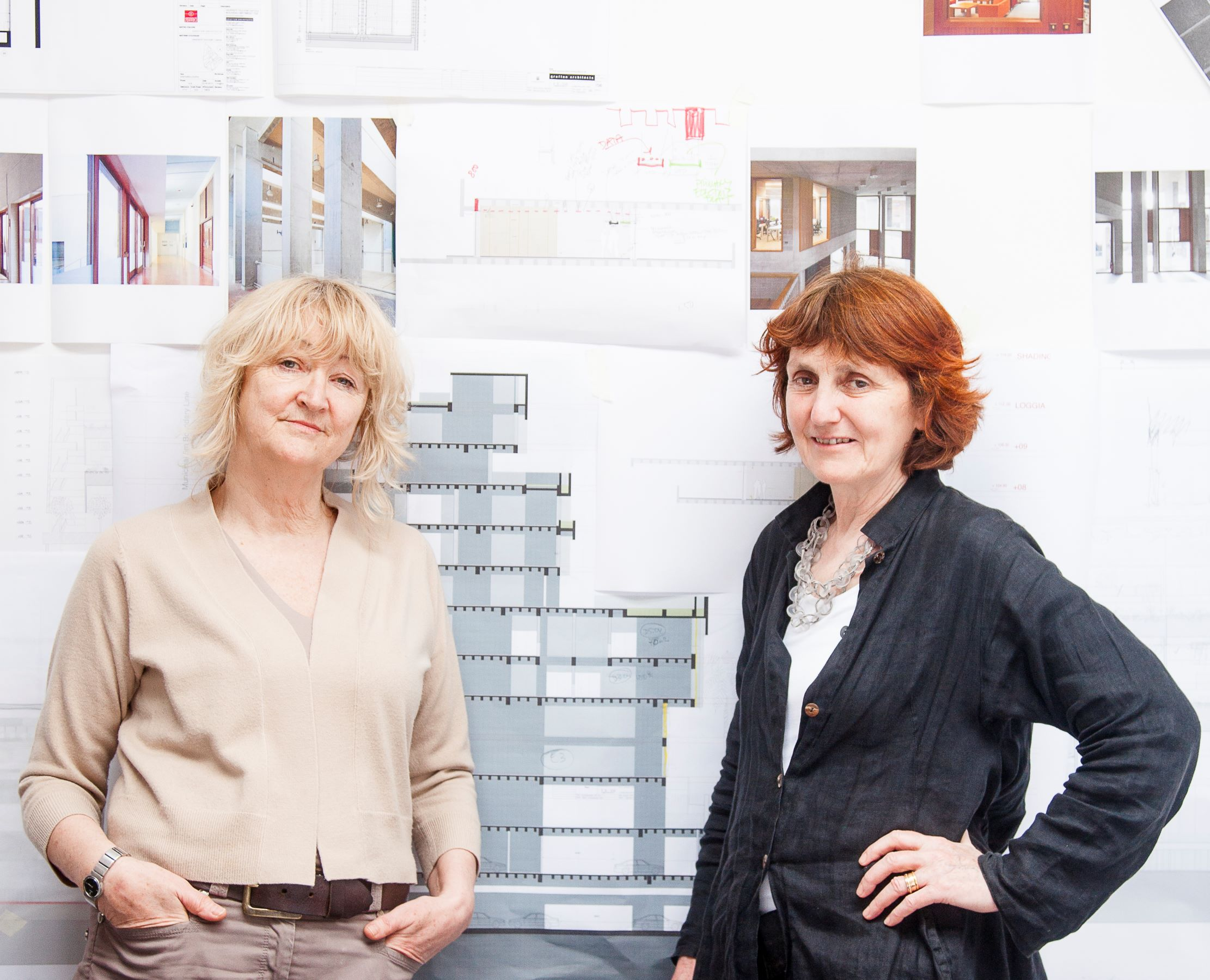 Grafton Architects - Yvonne Farrell and Shelley McNamara. Photo by Alice Clancy