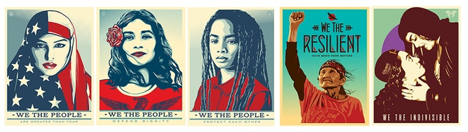 All six posters from the Amplifier Foundation's We The People campaign.