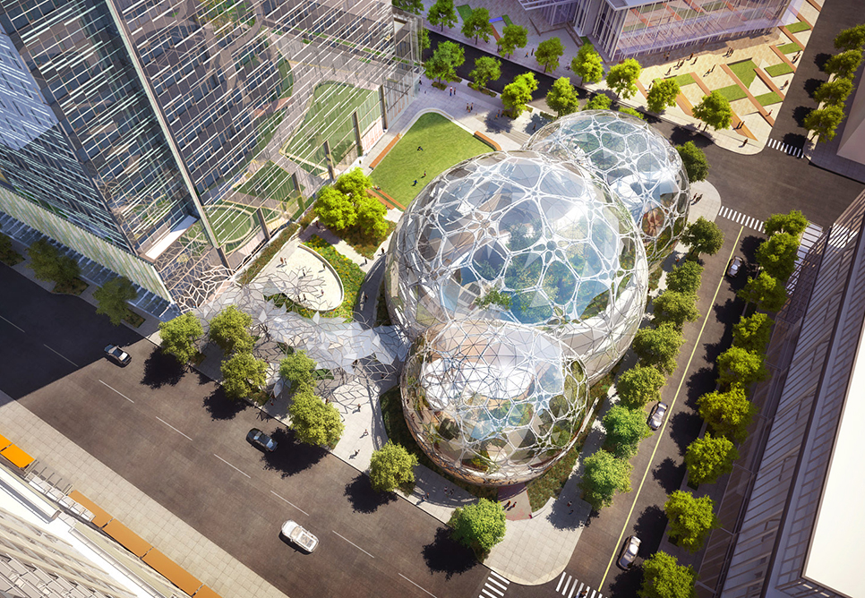 Amazon.com's biosphere office, designed by NBBJ