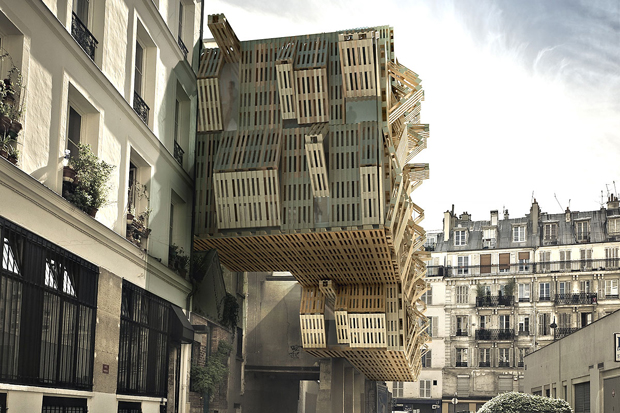 Could wooden pallets house parisian students for Architecture parisienne