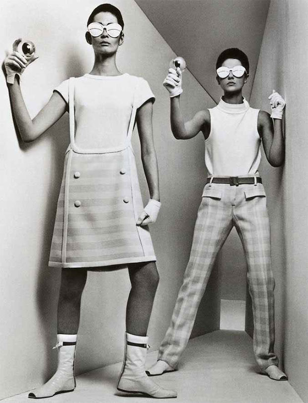 Andre Courreges - Space Age Designs 1964, photograph by William Klein from The Fashion Book
