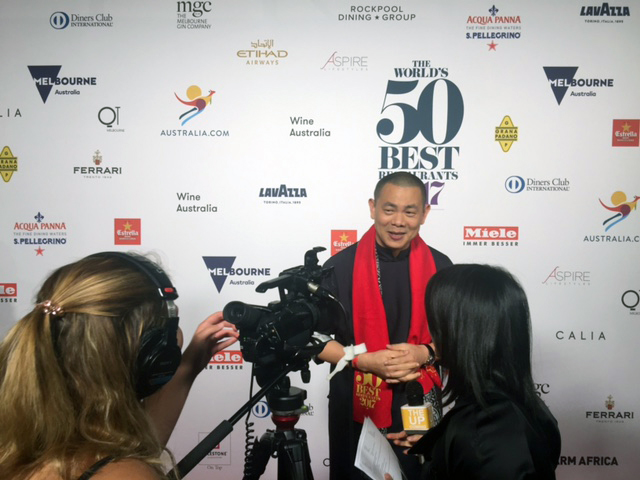 André Chiang at the World's 50 Best Restaurants awards earlier this year