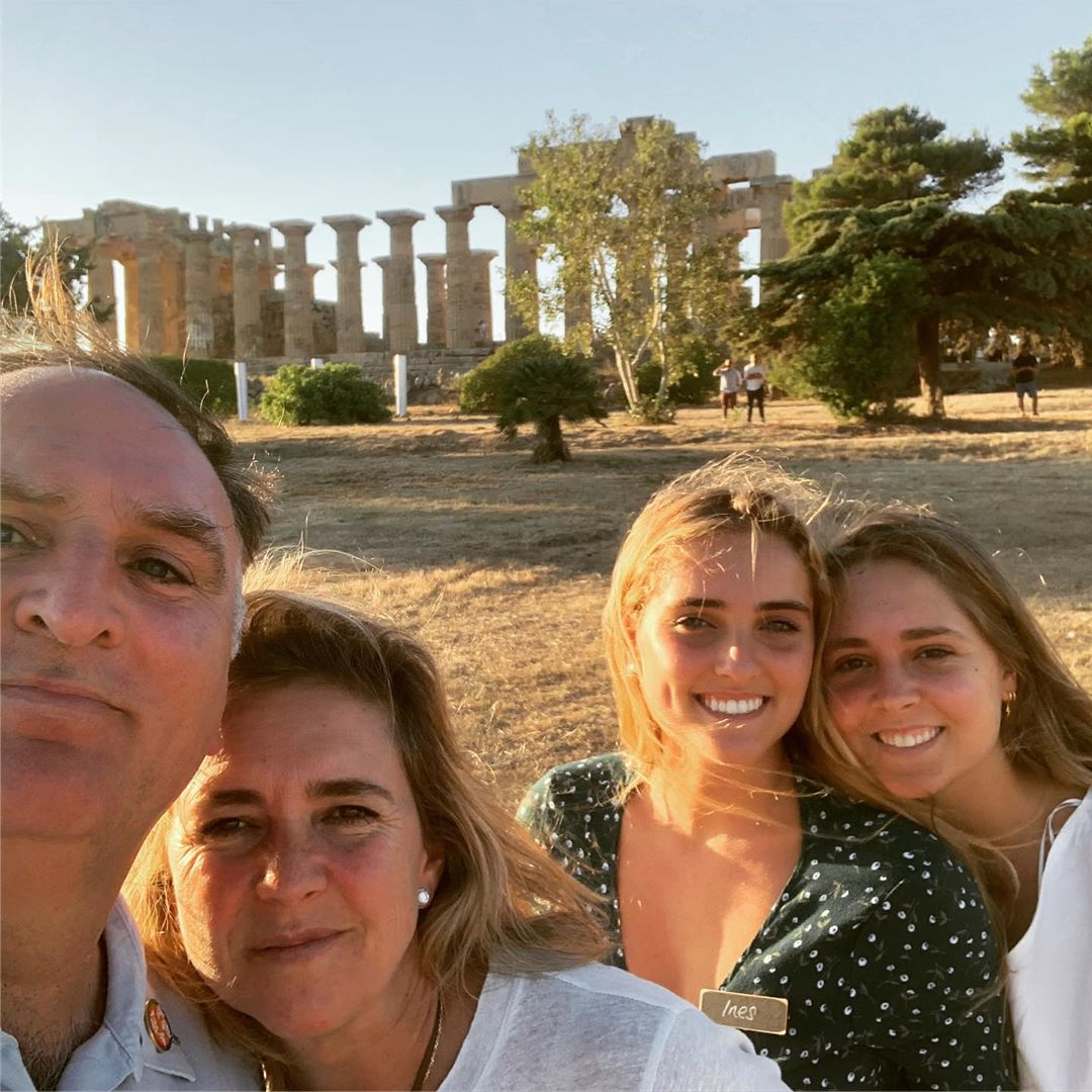 The Andrés family in Sicily. Image courtesy of José Andrés' Instagram