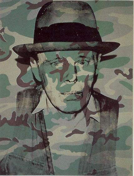 Joseph Beuys in Memoriam (1986) by Andy Warhol. Image courtesy of Artspace.com