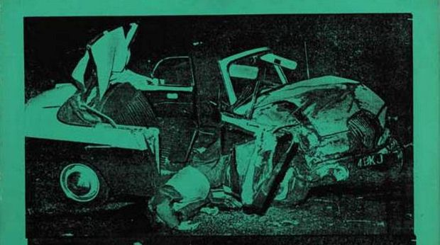 Detail from Green Disaster (1963) by Andy Warhol