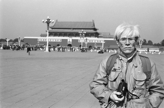 Andy Warhol in Tiananmen Square, 1982, by  Christopher Makos.