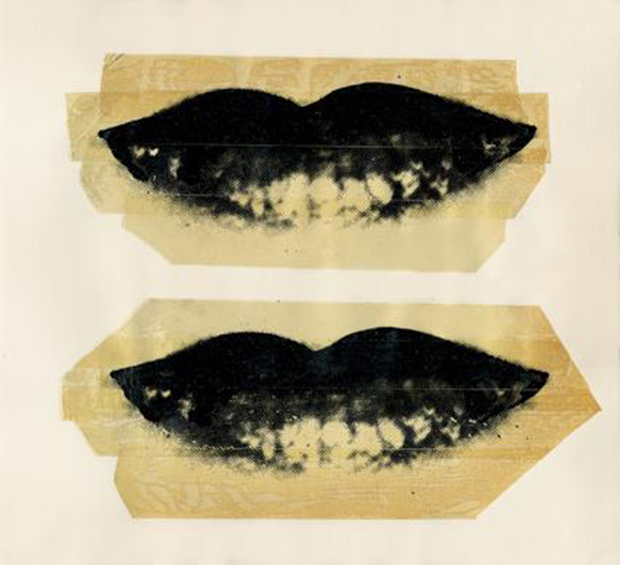 An image from Andy Warhol – Lips (c.1975), courtesy of Danziger Gallery