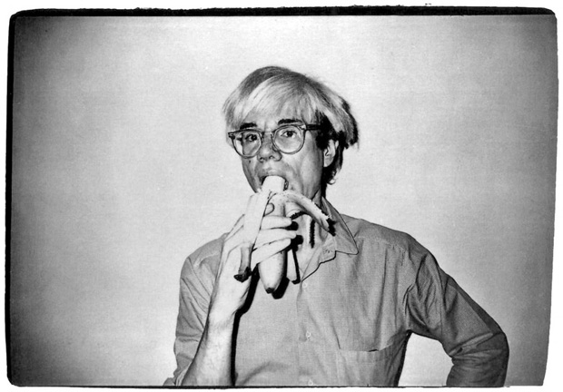 Andy Warhol - Self portrait eating banana (1982)