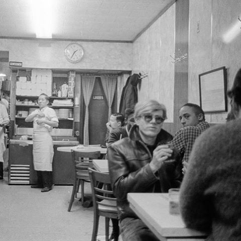 Andy Warhol, 1:35 a.m. in Chinatown. c.1966 by Stephen Shore. From Factory Andy Warhol Stephen Shore