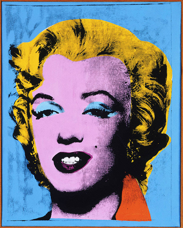 an analysis of andy warhol s gold marilyn monroe Warhol points out that it was the public's obsession with her, that destroyed monroe's mental and physical health by making such a bold statement he forces his viewers to question the very nature of celebrity and popular culture.