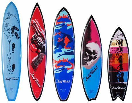 Bissell's full quiver of Warhol boards