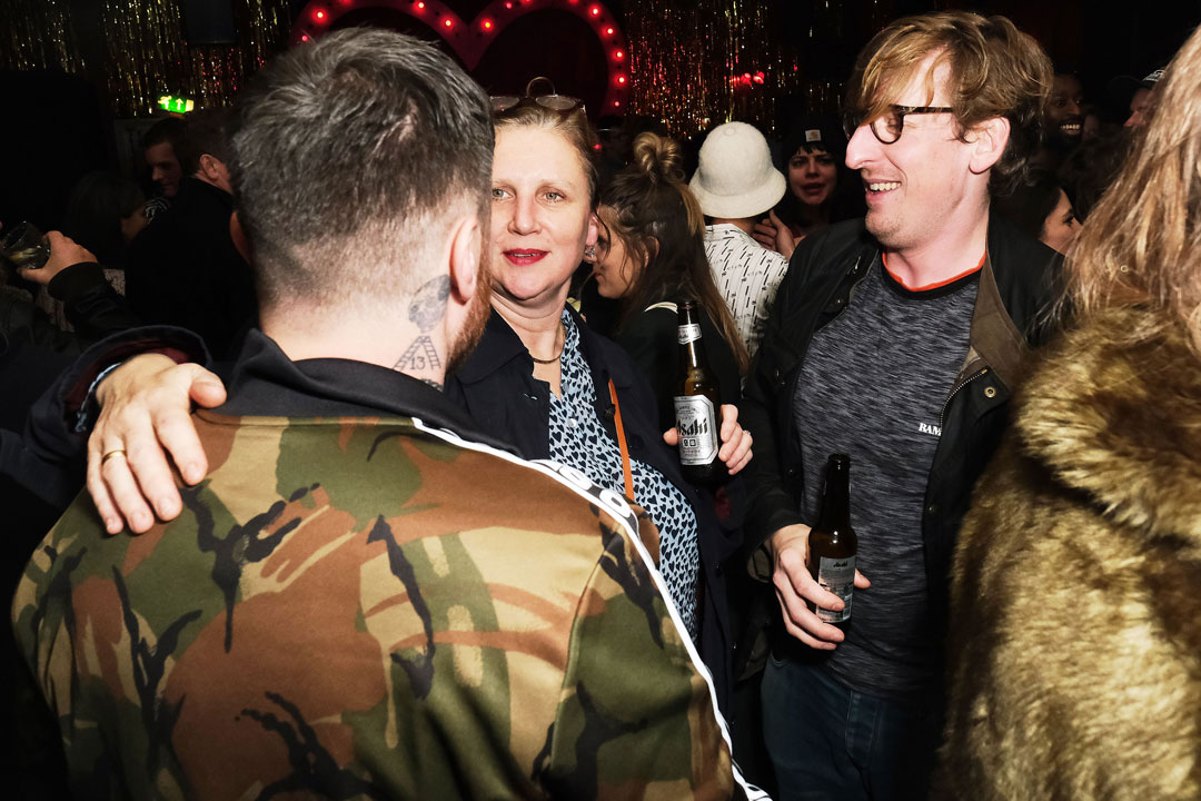 Lee Tiernan (left) with Angela Hartnett (centre) and Neil Brothwick (right)