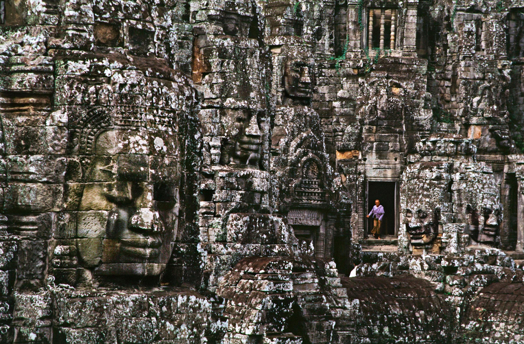 Steve McCurry at Angkor Wat on World Heritage Day