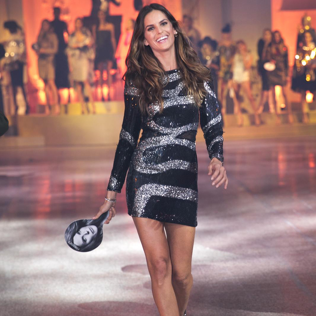 Izabel Goulart in one of Anna's outfits, at this weekend's sale