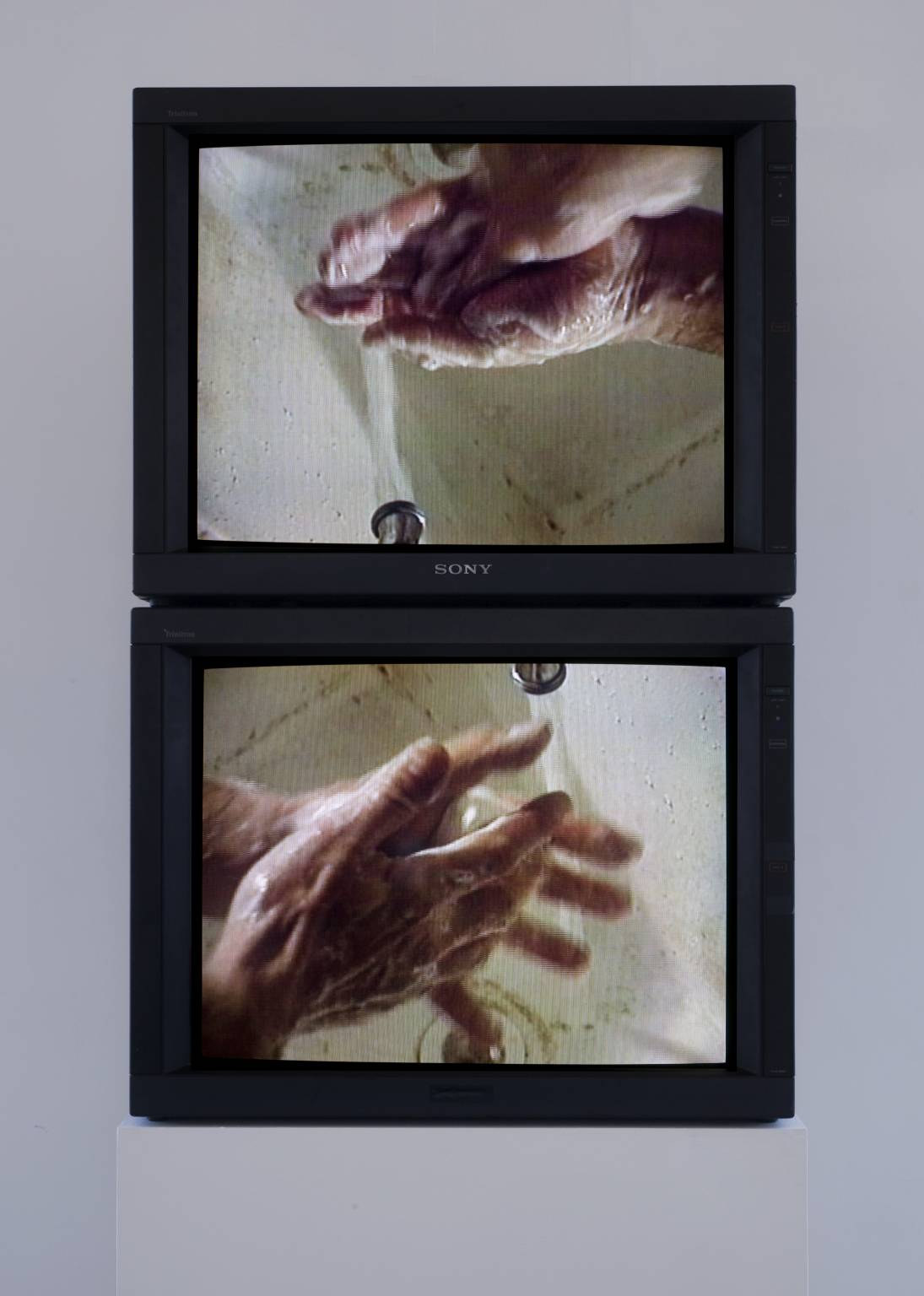 Raw Material Washing Hands, Normal (A of A/B) Raw Material Washing Hands, Normal (B of A/B) (1996)  Bruce Nauman