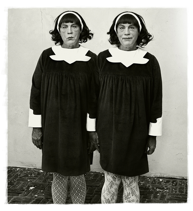 Diane Arbus / Identical Twins, Roselle, New Jersey (1967), 2014 by Sandro Miller. From the Malkovich, Malkovich, Malkovich - Homage to photographic masters series. Courtesy of the artist and Catherine Edelman Gallery, Chicago
