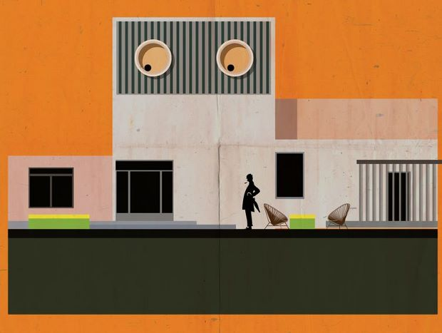 Detail from Federico Babina's Mon Oncle poster
