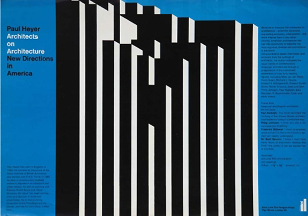 Architects on Architecture, Promotional Poster, Allen Lane, The Penguin Press, 1968 by Gerald Cinamon