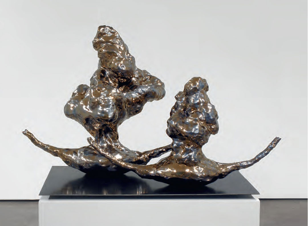 Twin Rockers, 2007 - Arlene Shechet - Glazed ceramic, steel, painted plywood - National Gallery of Art, Gift of Anne and Joel Ehrenkranz. Photo: Cathy Carver