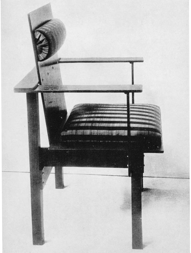 Armchair with plywood, 1922 by Marcel Breuer, which reflects his later interest in industrial design. From our new Breuer monograph