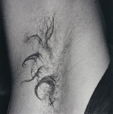 An armpit, shot at the Chemistry Club, 1992. From Chemistry Squares by Wolfgang Tillmans