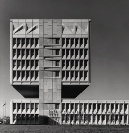 Armstrong Rubber Company Building, New Haven, Connecticut, USA, 1968, by Marcel Breuer