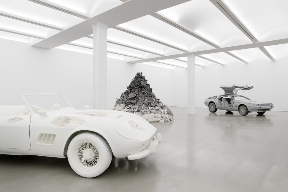 Installation view of 3018 by Daniel Arsham at Galerie Perrotin. Image courtesy of the artist and the gallery