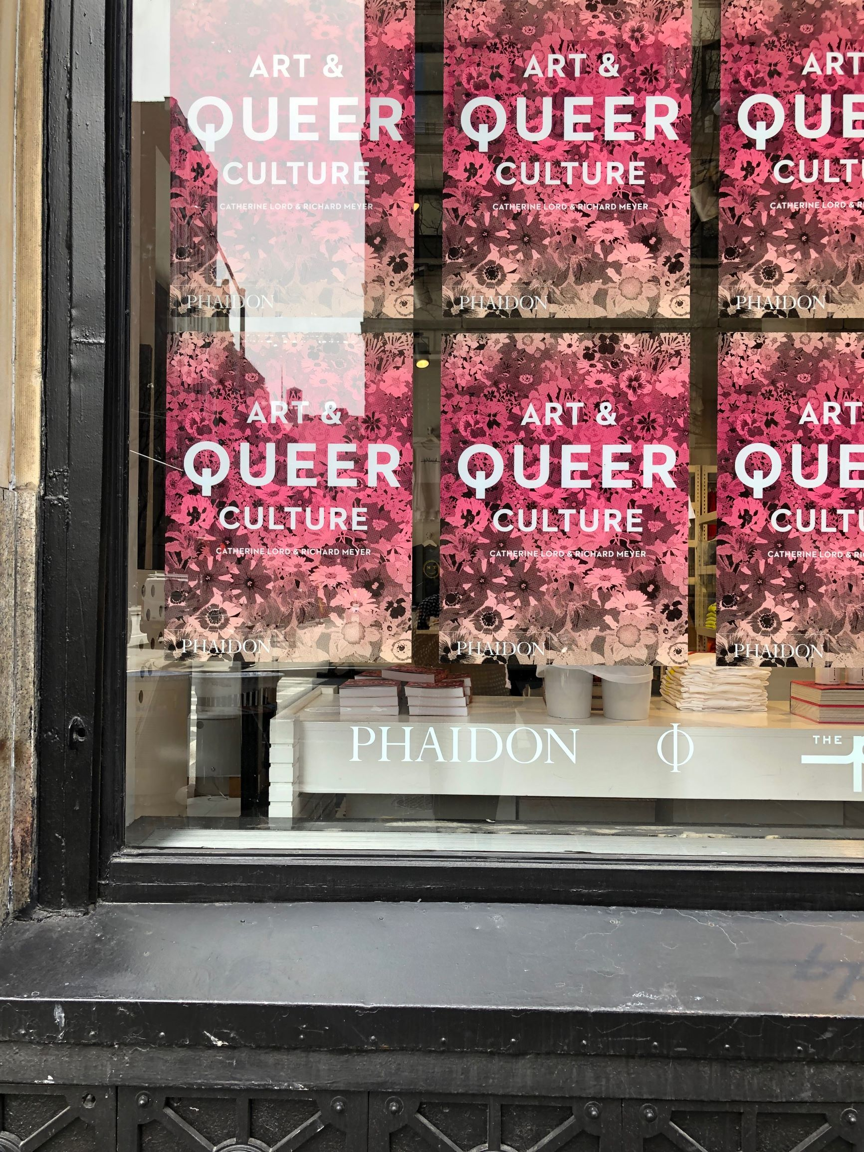 Art & Queer Culture on display in the windows of The Phluid Project, Manhattan