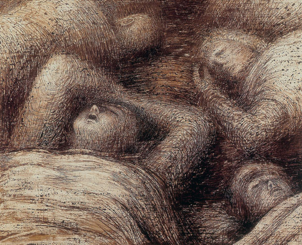 Four Grey Sleepers 1941 - Henry Moore