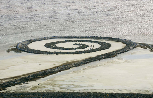 Rozel Point, Great Salt Lake, UT, Robert Smithson
