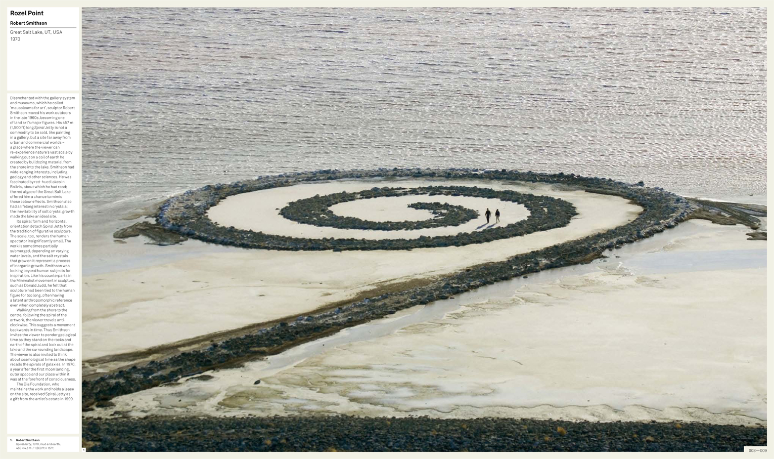 Spiral Jetty on the page in Art & Place