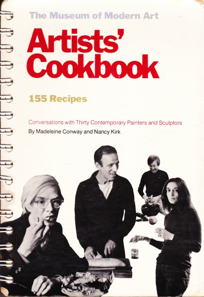 The cover of Artists' Cookbook, as featured in The Cookbook Book