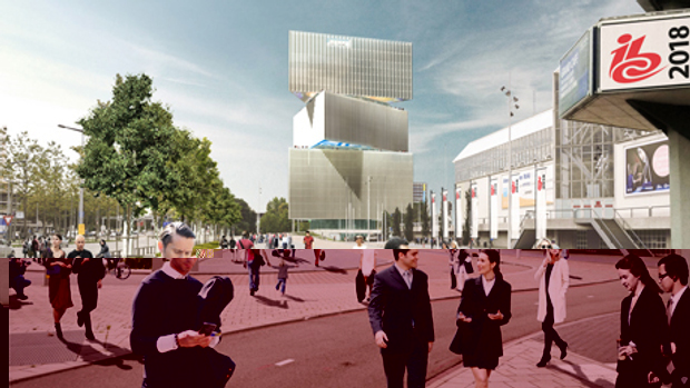 Renderings for Nhow Amsterdam RAI Hotel, by OMA