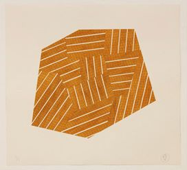 Orange and Yellow Division (2012) by Richard Deacon, courtesy of Singapore Tyler Print Institute