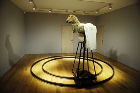 Masonic goat from A Complicated Relationship between Heaven and Earth, or When We Believe by Theaster Gates
