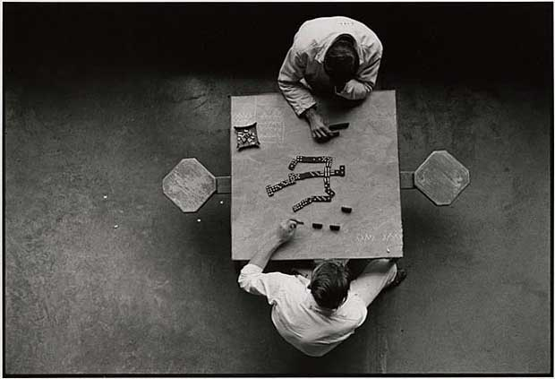 The dominoes players, Walls Unit, Texas Department of Corrections, by Danny Lyon from Conversations with the Dead