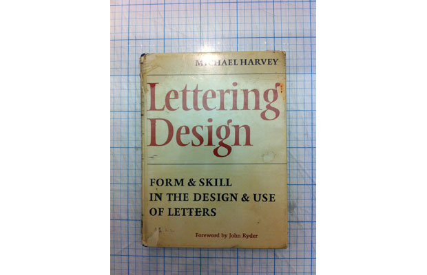 Michael Harvey, Lettering Design cover (Photo of original by Andy Stevens)