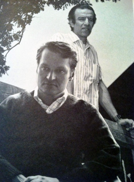 John Ashbery and Alex Katz, crica 1969