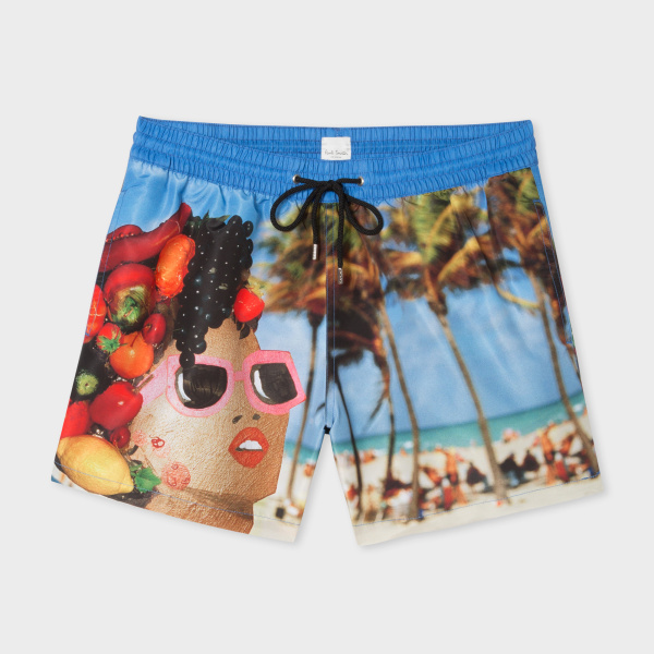 Martin Parr 'Beach' Print Swim Shorts by Paul Smith. Image courtesy of Paulsmith.com