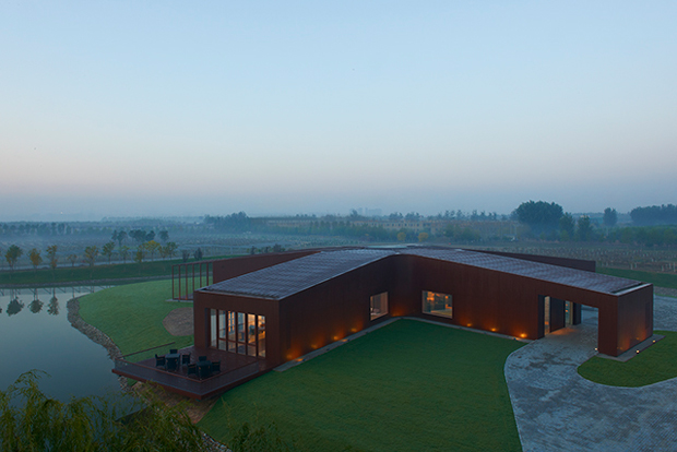Beijing island winery is shaped like an asterisk