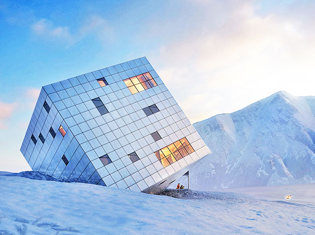 Ice Cube Refuge Proposed For Slovak Mountains Design