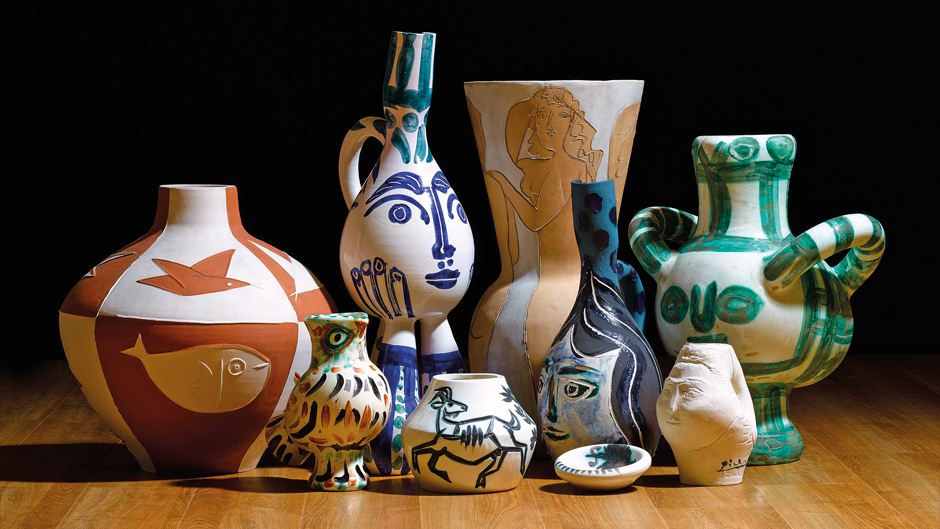 Picasso ceramics from the Attenborough collection. Image courtesy of Sotheby's