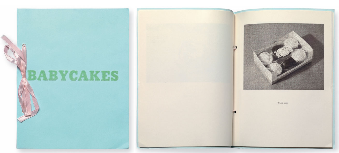 A spread from Babycakes with Weights (1970) Ed Ruscha