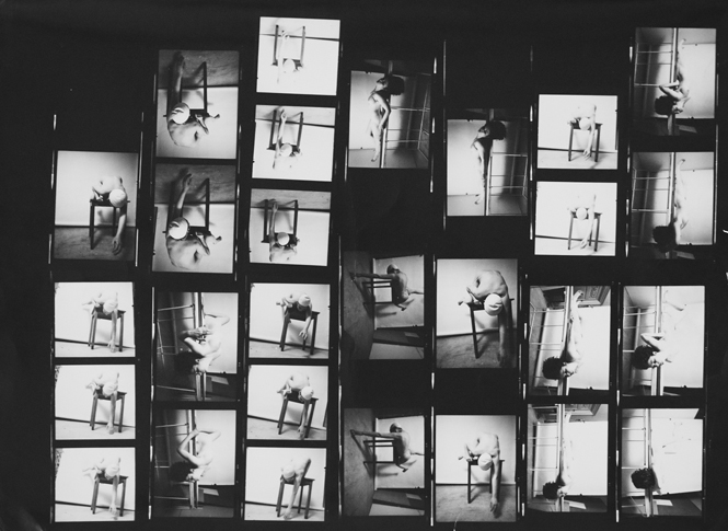 Francis Bacon contact sheet, courtesy of The Michael Hoppen Gallery