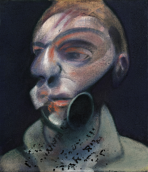 Francis Bacon, Self-Portrait, 1975,  oil on canvas, 35.5 by 30.5cm, est. £10-15 million. Image courtesy of Sotheby's