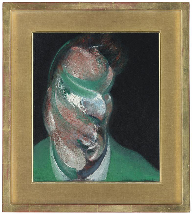 Francis Bacon - Study for Head of Lucian Freud, 1967 oil on canvas 14 x 12in. (35.5 x 30.5cm.) Image courtesy of Christie's