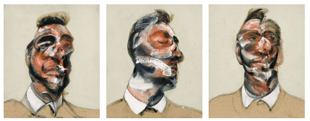 Unseen since 1970 - Three Studies for the Portrait of George Dyer - Francis Bacon - photograph courtesy Sotheby's