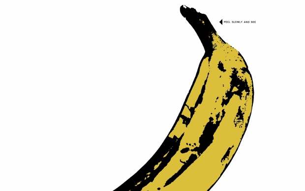 Detail from Warhol's famous banana cover image (1967)