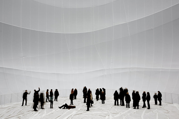 Visitors inside Big Air Package. Image by Wolfgang Volz