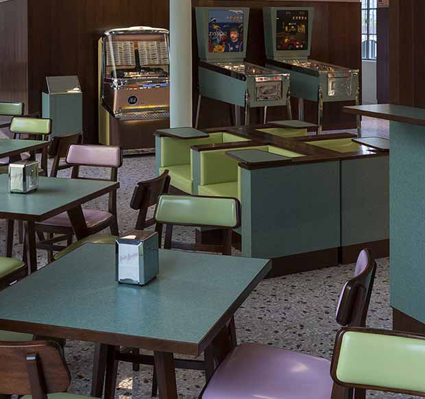 Wes Anderson's Bar Luce. Photo: Attilio Maranzano. Courtesy Fondazione Prada